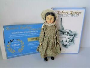 Robert Raikes HITTY Carved Wood Doll Mint in Box with COA in SAGE GREEN DRESS
