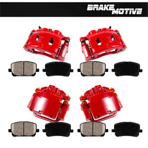 Front and Rear Calipers & Pads For 2007 ESCALADE AVALANCHE SUBURBAN TAHOE YUKON