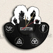 Wall Clock Led Zeppelin Vinyl Record Clock Upcycled Gift Idea