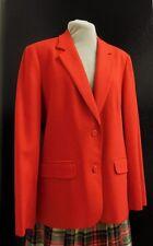 PENDLETON  Vintage RED Classic 100% Wool Lined  Blazer Jacket