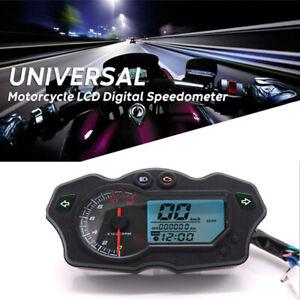 1PCS 12V Motorcycle LCD Digital Speedometer Universal Tachometer Odometer Gauge