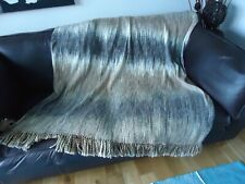 NEXT GREYS AND PEACH TONES TASSEL THROW 125 BY 160 CM