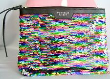 Victorias Secret FLIP SEQUINS BLING Carrie All Pouch Wristlet Bag Cosmetic NWT