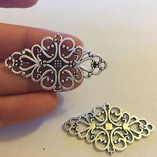 10 charms pendants tibetan silver antique jewellery making wholesale UK IR52