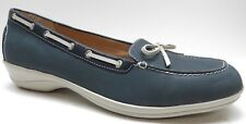 Softspots Blue Leather Wedge Loafer Shoes Heels Pumps 12M 12 NEW $89