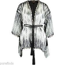 ROBERTO CAVALLI Biancheria Intima Kimono Di Seta di Raso, Vestaglia, Taglia unica NUOVO CON ETICHETTE RRP £ 850
