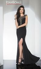Tony Bowls Prom Dress Party  Evening  Long Sexy Color Black Size 2