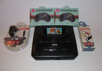 Sega Genesis Console Model 2 System Bundle W/ 2 New Controllers,  Cords & Sonic