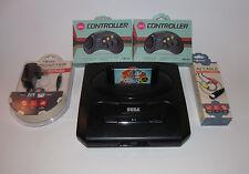 Sega Genesis Console Model 2 System Bundle W/ 2 New Controllers,  Cords & Sonic