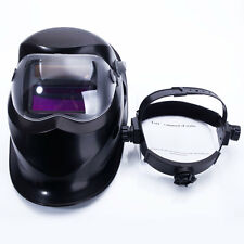 PRO Solar Powered Automatic Darkening Lens Arc Tig Mig Welding Helmet Mask Black