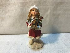 Boyds Yesterdays Child Dollstone Felicity Bearing Gifts Christmas Figurine 35000