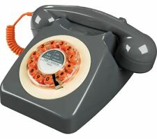 Wild & Wolf 746 Push Button Dial Corded Telephone Grey UK SELLER