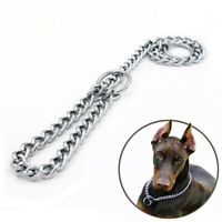 Heavy Duty Dog Stainless Steel Choke Collars Pet Show Collar Training Chain NEW