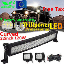 "24"" 120W curved LED work light bar offroad truck boat SUV +18W+Harness 12/24V"