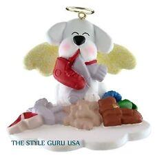 DOG IN HEAVEN WHITE CHRISTMAS TREE ORNAMENT SO CUTE!