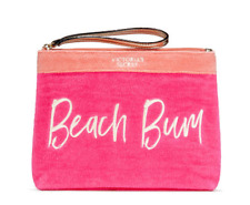 Victoria's Secret Bombshell summer Beach Bikini Makeup Bag Zipper Closure Pink
