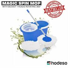 Hodeso Magic Spin Mop W/Bucket 1 Heads Rotating 360° - BLUE