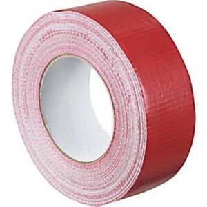 2x Duck RED strong Duct Gaffa Gaffer Waterproof Cloth Tape 48mm 50m STRONG