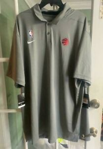 Nike Toronto Raptors Edition NBA Dri Fit Polo Shirt Gray XXL-TALL AV1793-002