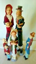 Christmas Carolers 6 pc. set Resin cast Perfect condition