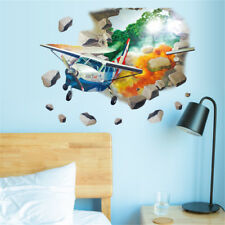 3D Helicopter Plane Room Home Decor Removable Wall Sticker Decal Decoration
