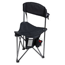 Quick-E-Seat Folding Tripod Field Chair Fishing Camping Stool with Backrest