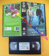VHS film RAIN MAN Dustin Hoffman Tom Cruise 1989 WARNER inglese (F106) no dvd