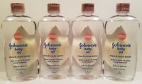 4 Johnson's Baby Oil With Shea & Cocoa Butter, 20 Fl. Oz each *Free Shipping*