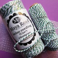 MAYA ROAD ∽ BAKERS TWiNE ∽ 5 (FiVE) METRES ONLY∽ GREEN / WHiTE ∽ WHEATGRASS ~