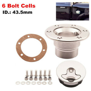 6 Bolt for ID 43.5mm Aluminum Fuel Cell Surge Tank Cap Boat Yacht Water Tank Cap