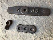 Vintage Antique Industrial Metal Gear Mill Factory Steampunk Wall Lever Bracket