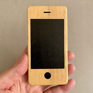 Holz Handy Spielzeug ohne Zubehör Donkey I Woody 11,5x6,5x1cm Gebraucht ALT