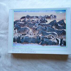 Murfett Regency ZEBRA GATHERING 1000 Piece Jigsaw Puzzle PICTURE Animals HORSE