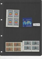 Canada - mixed blocks of MNH postage stamps + MNH $2 stamp ref 28