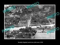 OLD LARGE HISTORIC PHOTO OF BEWDLEY ENGLAND, AERIAL VIEW OF THE TOWN 1930 2
