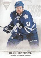 2011-12 Panini Titanium Hockey #11 Phil Kessel Toronto Maple Leafs