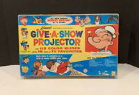 1964 Kenner Give-A-Show Projector with Slides IOB + 12 Bonus Slides