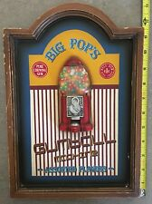 """Vintage Big Pop's """"Gumball Machine"""" 3D Wall Hanging - Wood Hand-Painted"""