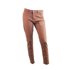 Womens Ex Marks & Spencer Skinny Fit Jeans Style Trousers Tea Rose Size 14 R M&S