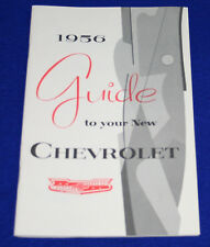 CHEVROLET 1956 Belair Owners Manual Reproduction.