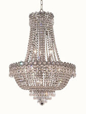 "World Crystal  Empire 12 light 28""H Dining room Crystal Chandelier Light Chrome"