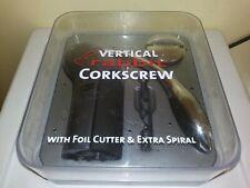 New listing Rabbit Vertical Corkscrew with Foil Cutter and Extra Spiral (Velvet Black)