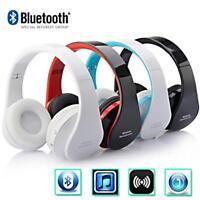 Wireless Bluetooth Foldable Headset Stereo Headphone Earphone Mic for iPhone