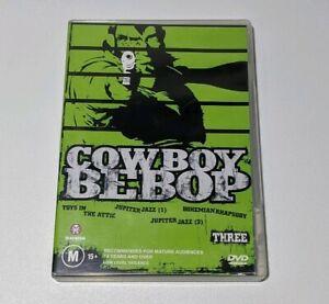 Cowboy Bebop Vol 3 DVD 2002 region 4 PAL ( sent with tracking ) MADMAN