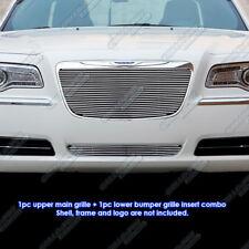 Fits 2011-2014 Chrysler 300/300C Billet Grille Grill Insert Combo