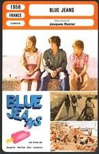 BLUE JEANS - Ferro,De Peretti,Rozier (Fiche Cinéma) 1958