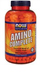 Amino Complete 360 Caps Now Foods, Muscle Building, Balanced Amino Acids Blend