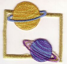 Ringed Planets Saturn Neptune Embroidery Patch