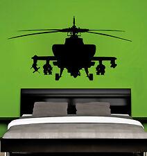 Ejército - Helicóptero DORMITORIO INFANTIL Aplicador Gratis! Pared