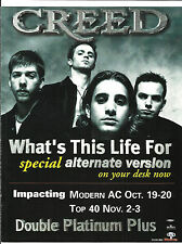 Creed What's This Life For Trade Ad Poster for Prison Cd Scott Stapp 1998